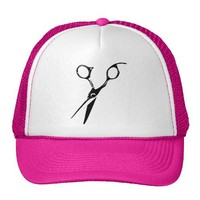 Stylist Shears Stencil Style Hats from Zazzle.com
