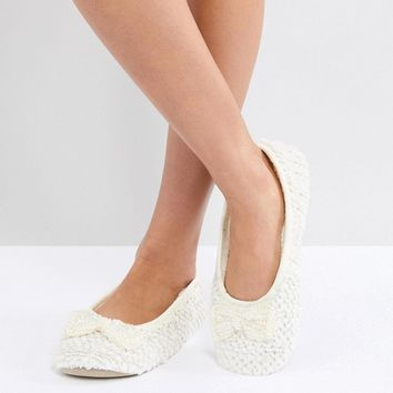 Oasis Bow Slipper at asos.com