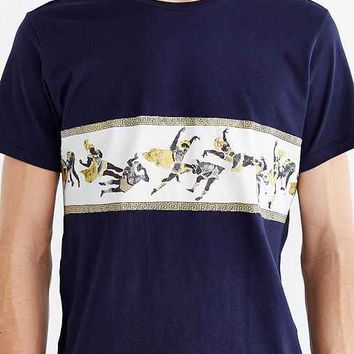 Tee Library Battle Of Thermopylae Tee- Navy