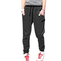 Allegra K Men Elastic Waist Sports Track Pants Drawstring Trousers Sweatpants