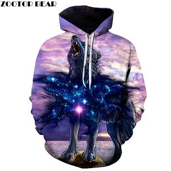 Wolf Printed Men Women Hoodies Funny 3D Sweatshirts Autumn Winter Pullover Hooded Tracksuits Fashion Casual Outwear ZOOTOP BEAR