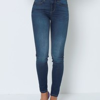Stepping Out Skinny Jeans - Blue Denim