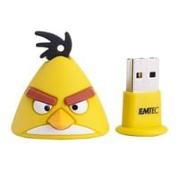 EMTEC Angry Birds A102 4 GB USB 2.0 Flash Drive (Yellow Bird) (EKMMD4GA102)