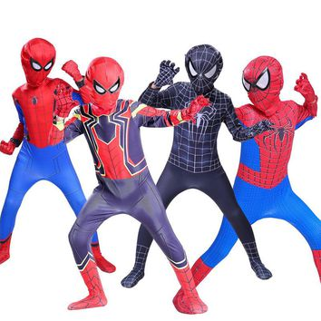 zentai the amazing spiderman suit iron spider costume for kids children boy spider man adult homecoming cosplay fancy spider-man