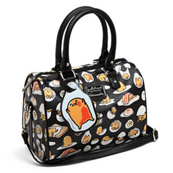 Gudetama Print Vegan Leather Duffle Bag