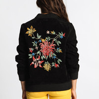 Huntress Suede Bomber-Black-2