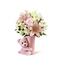 Baby Girl Big Hug Bouquet - New Baby Flowers - Occasion