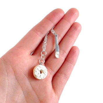 Cream Cheese Bagel Necklace