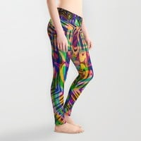 Funkydelica #2 Leggings by Webgrrl