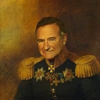 Robin Williams - replaceface Art Print by Replaceface   Society6