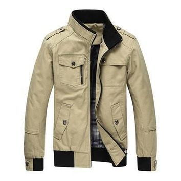 Casual Men's Jacket Spring Army Military Jacket Men Coats Winter Male Outerwear Autumn Overcoat