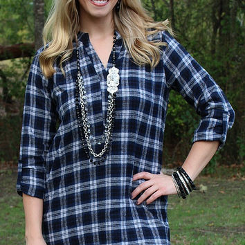 What I Like About You Plaid Flannel Tunic