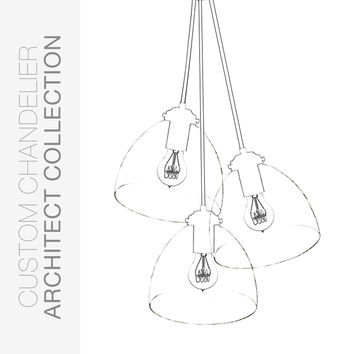 "Custom Design Your 8"" Hand Blown Glass Chandelier"