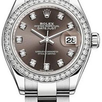 Rolex - Lady Datejust 28mm - Stainless Steel and White Gold - Diamond Bezel