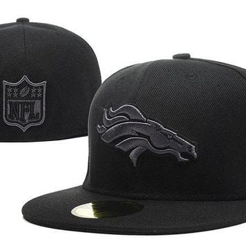 DCCKBE6 Denver Broncos New Era 59FIFTY NFL Football Cap All-Black