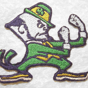 "Fighting Irish of Notre Dame Iron on Patch - Applique -  3.5"" x 3.5"""