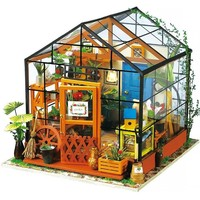 Miniature Wooden Greenhouse Style Dollhouse