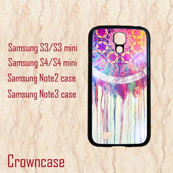 Samsung Note 3 case,Samsung S4 Active case,Samsung Galaxy S4,Samsung Galaxy S3,Samsung Note 2,Samsung S4 mini--Dream Catcher,in plastic.