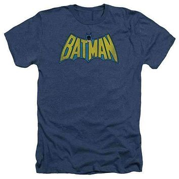 Mens Classic Batman Logo Heathered T-Shirt