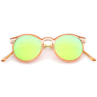 Retro Translucent Round P3 Color Mirror Lens Sunglasses A465