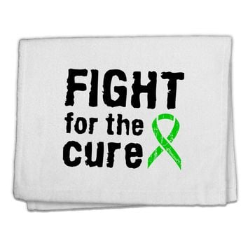 """Fight for the Cure - Lime Green Ribbon Lyme Disease 11""""x18"""" Dish Fingertip Towel"""
