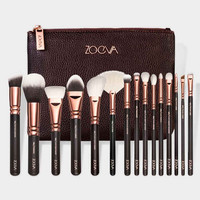 Rose Gold 15Pcs/set Cosmetic Makeup Brush Women Foundation Lip Eyeshadow