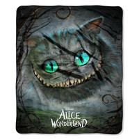 Alice in Wonderland Cheshire Cat Movie Fleece Blanket