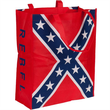 """Rebel Flag Tote Bag With 12""""x18"""" Flag"""