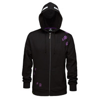 Minecraft Enderman Premium Zip-up Hoodie Black Enderman Fleece Outerwear Best Gift for Minecraft Fans = 1932339396