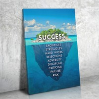 Success Island Success Is An Island Framed Wall Art Canvas
