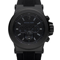 Michael Kors Watch, Men's Dylan Black Silicone Strap 45mm MK8152 - Men's Watches - Jewelry & Watches - Macy's