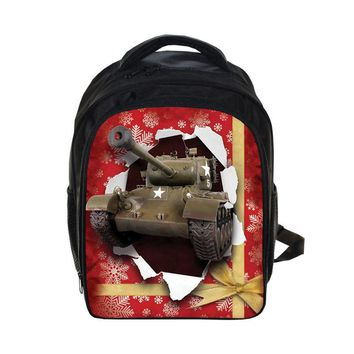 "New Aircraft Artillery Pattern Black School Bags Boys Backpacks for Teenagers 13"" Kindergarten Book Bags for Child Shoulder Bag"