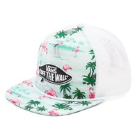 Vans Pink Flamingo Trucker Hat (Blue Atoll)