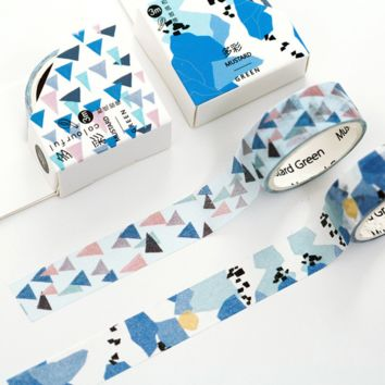Blue Geo Washi Tape Set of 2