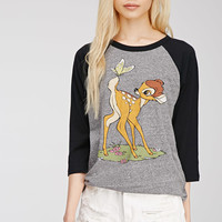 Bambi Graphic Baseball Tee - Tops - 2000134161 - Forever 21 UK