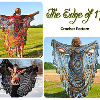 Crochet Vest Pattern, Bohemian Vest, Stevie Nicks Style, Shawl Cape Vest
