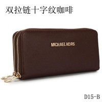 MICHAEL KO WOMEN'S FASHION DOUBLE ZIP PU WALLET MK001H