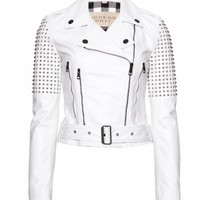Studded Leather Biker Jacket ✽ Burberry Brit ¦ mytheresa