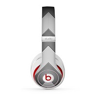 The Dark Gray Wide Chevron Skin for the Beats by Dre Studio (2013+ Version) Headphones