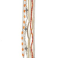 Lucky Brand Red Lucky Layers Bracelet Womens - Red/Gray/Multicolor