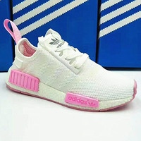 ADIDAS NMD Trending Fashion Casual Sports Shoes pink logo