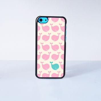 Cute Little Pink Whale Plastic Case Cover for Apple iPhone 5C 6 Plus 6 5S 5 4 4s