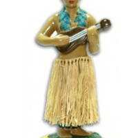 Dashboard Porcelain Hula Man with Ukulele
