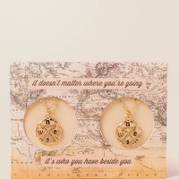 Compass Friendship Necklace Set