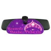 Reserved Parking Sign Princess Rearview Mirror Sign Hanger