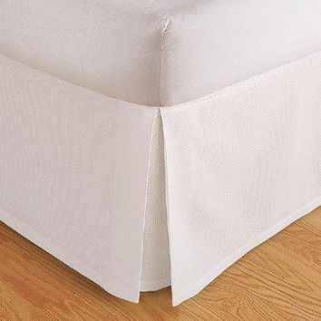 "Tailored Bed Skirt. Dust Ruffle, Pleated, 14"" Drop"