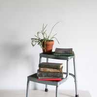 vintage industrial step stool / ladder