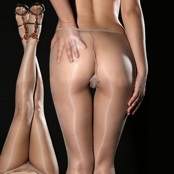 2017 HOT Womens Sexy Sheer Oil Shiny Glossy Classic Pantyhose Tights Stocking