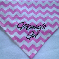 New Item- New Font- Personalized-Monogram  Embroidery- Mommy's Girl- Daddy's Girl -Dog Bandana - Over the Collar-Scarf- Summer