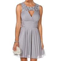 Karlie-silver Homecoming Dress